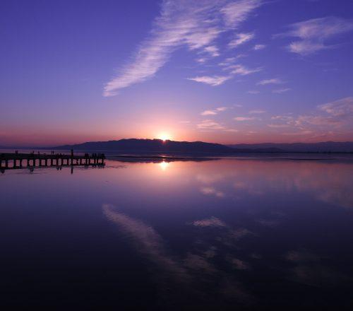 Sortida del sol a Migjorn. Delta de l'Ebre