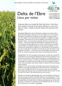 Visites i activitats Delta de l'Ebre